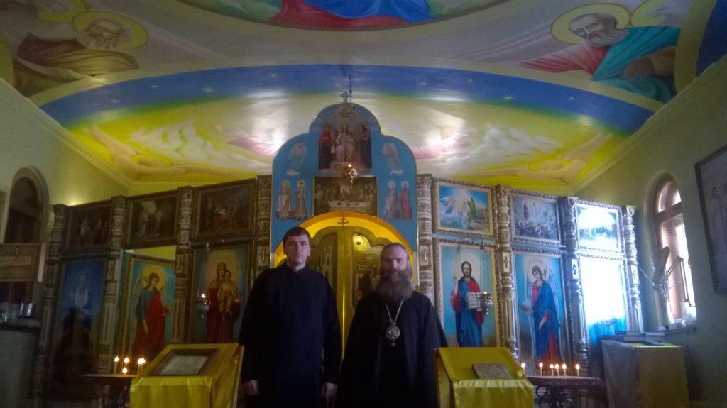 7. Епископ Николай Блянский и Северо-Российский и диакон Михаил.